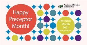 April is National Preceptor Month.